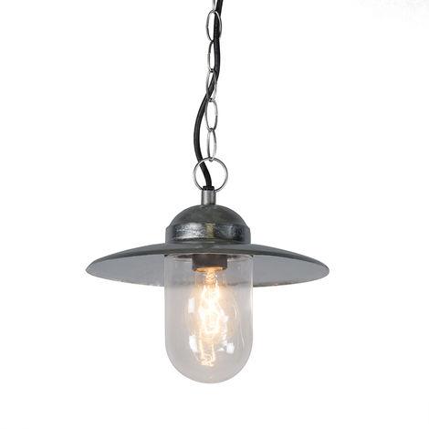 Industrial hanging lamp zinc IP44 - Munich