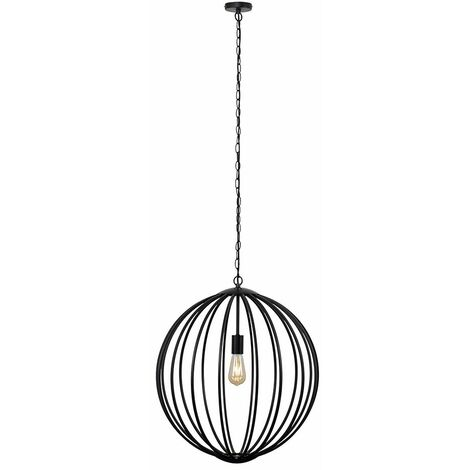 Industrial Iconic Suspended Ceiling Light Black Copper - No Bulb