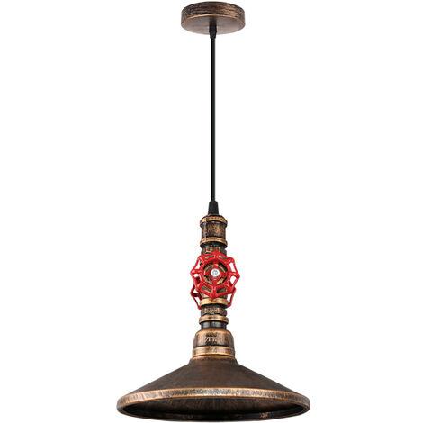 Industrial Lámpara de araña Vintage Colgante de Tubo Cuerda de cáñamo Iluminación E27 Lámpara de Techo Rústico Estilo Comedor Restaurante Cafe