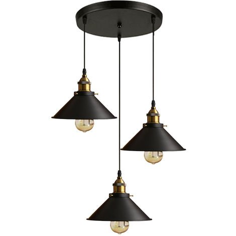 Industrial Lámparas de araña Iluminación de techo Retro 220m 3 E27 Vintage lámpara Edison Colgante de Luz Para restaurante dormitorio sala de estar