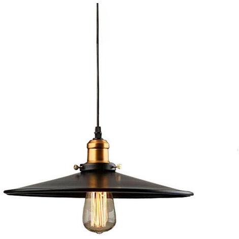 Industrial Luz Colgante Retro Luz de Techo ø30cm (Negro)Vintage lámpara Edison Colgante de Luz Lámpara de Techo Iluminación E27 para Loft Restaurante Coffee Bar