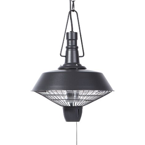 """main image of """"Industrial Mounted Outdoor Ceiling Heater Patio Warmer Black Amiata"""""""