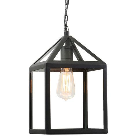 "main image of ""Industrial outdoor hanging lamp black - Amsterdam"""