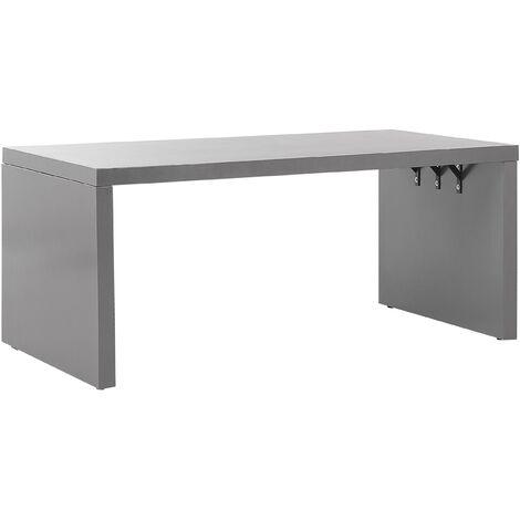 Industrial Outdoor Table U-Shape Concrete Steel Frame 180 x 90 cm Grey Taranto