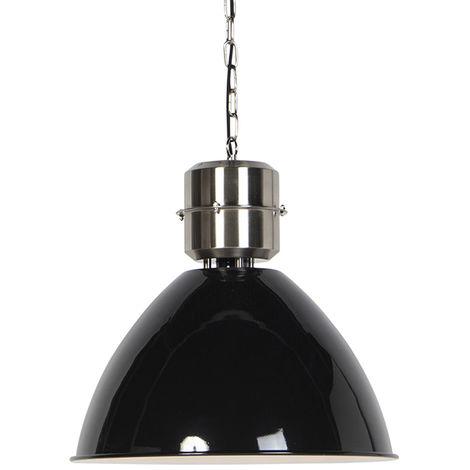 Industrial Pendant Lamp Black with Steel - Flynn