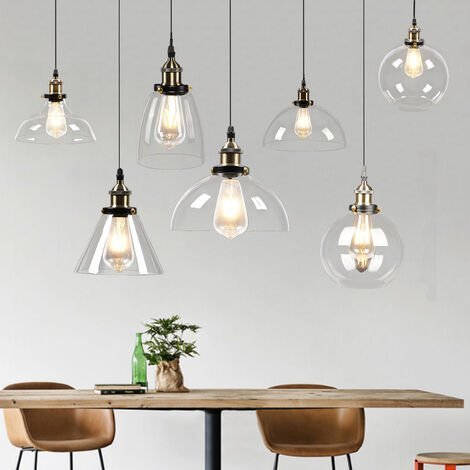 Industrial Pendant Light Glass Lamp Ceiling Lampshade