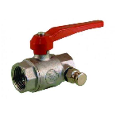 Industrial plumbing fixture - Ball valve with drainer