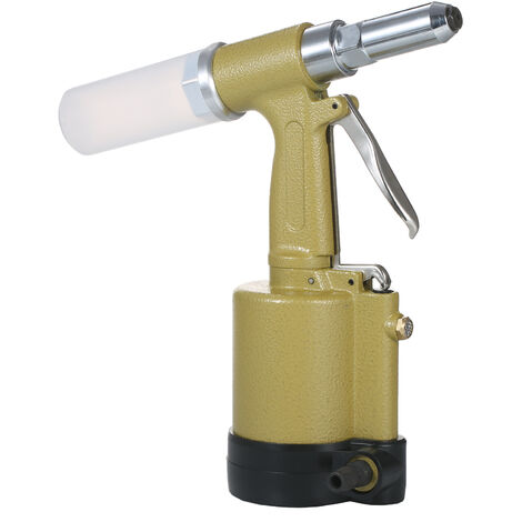 """main image of """"Industrial Pneumatic Rivet Gun Heavy Duty Air Riveter Air Rivet Gun Self-plugging Riveting Tool with 4 Nosepieces for Pulling 3/32-inch, 1/8-inch, 5/32-inch, 3/16-inch Iron/Aluminum/Stainless Steel Rivets,model:Gold Type 1"""""""