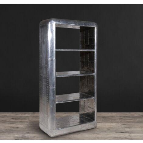 Industrial Shelving Unit Vintage Metal Furniture Large Bookcase Display Cabinet