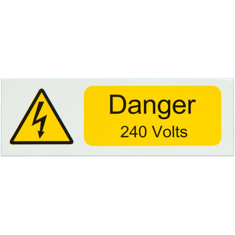 Image of IS0410SA Danger 240V 75x25 - Pack of 10 S/a Vinyl - Industrial Signs