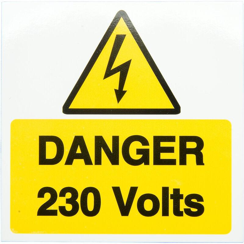 Image of IS1910SA Danger 230V 150 x 225mm - Self Adhesive Vinyl - Industrial Signs