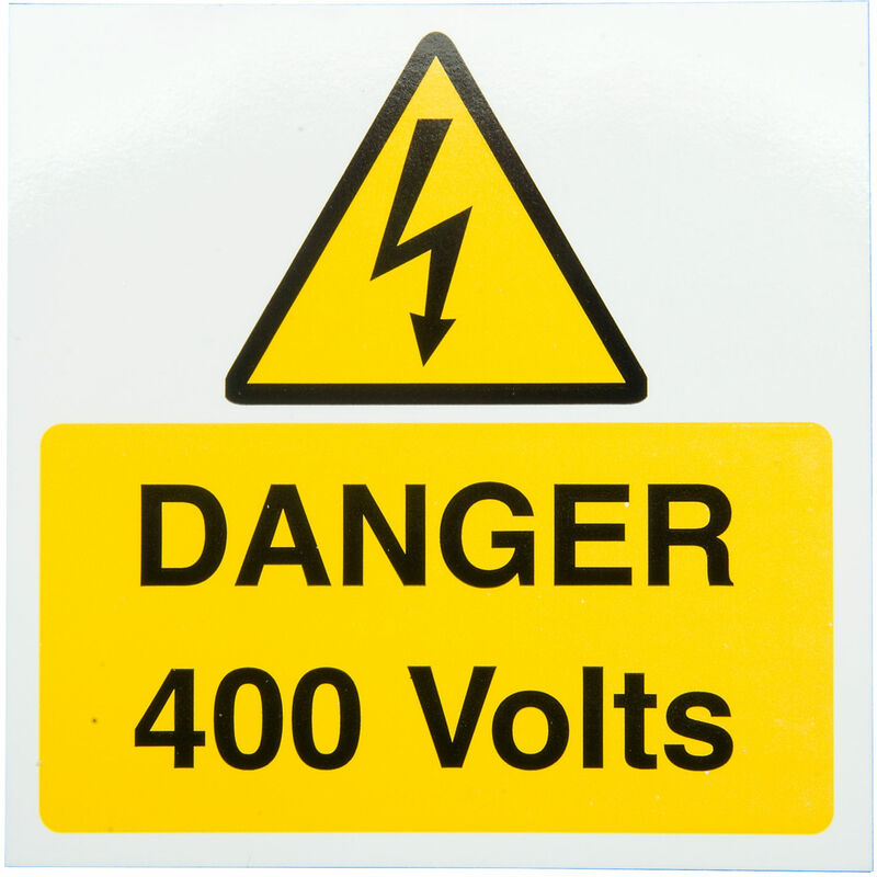 Image of IS2710SA Danger 400V 75x75 - Pack of 10 S/a Vinyl - Industrial Signs