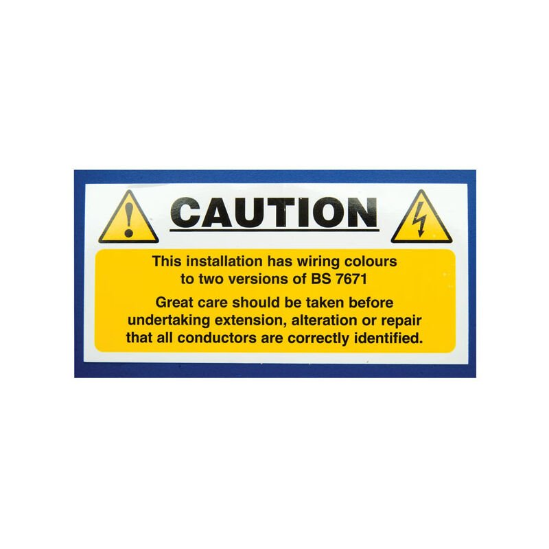 Image of Industrial Signs IS5810SA Harmonised Cable Notice 130x60mm Pack of 10 S/A Vinyl
