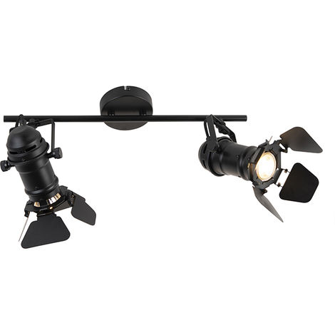 Industrial spot black with valves 2 lights - Movie