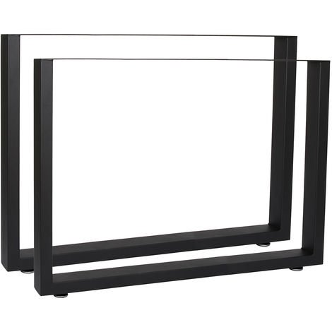 Industrial Square Table Legs Powder-coated Black 90x72cm for Tables Benches and Desks