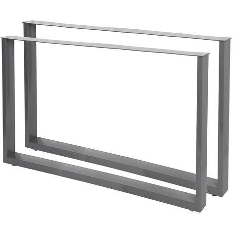 Industrial Square Table Legs Powder-coated Grey 100x72cm for Tables Benches and Desks