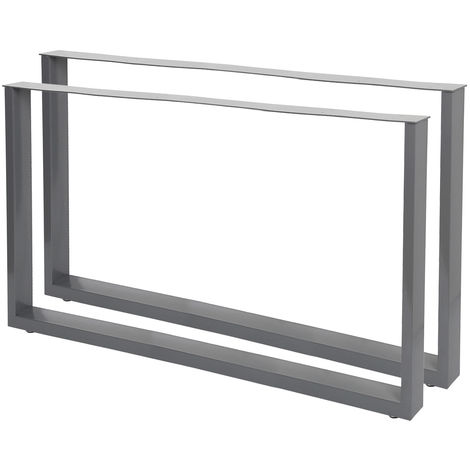 Industrial Square Table Legs Powder-coated Grey 64x40cm for Tables Benches and Desks