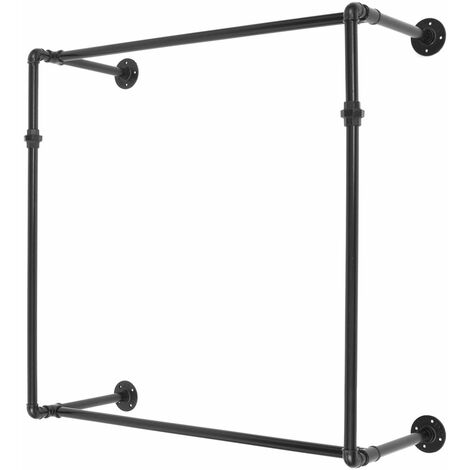 """main image of """"Industrial Style Metal Clothes Rail Rack Garment Display Hanger 100 * 30 * 100cm WASHED"""""""