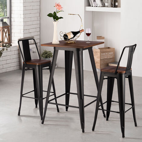 """main image of """"Industrial Style Metal High Table Kitchen Breakfast Bar Bistro Stools"""""""