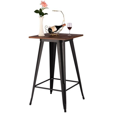 """main image of """"Industrial Style Metal High Table Kitchen Dining Table Breakfast Birstro Table"""""""