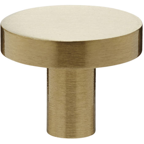 Industrial Style Satin Brass Drawer Knobs 25MM Disc