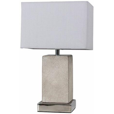 Industrial Table Lamp Cement Metal Grey Shade Lighting Living Room Light - No Bulb - Grey