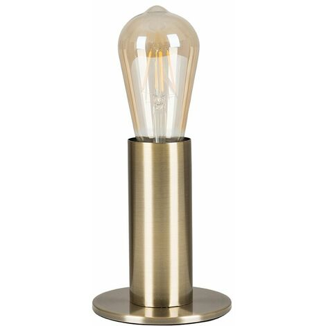 Industrial Table Lamp Chrome / Gold / Brass Finish Pear - Brass