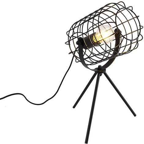 Industrial table lamp tripod black 40 cm - Bliss Vefa