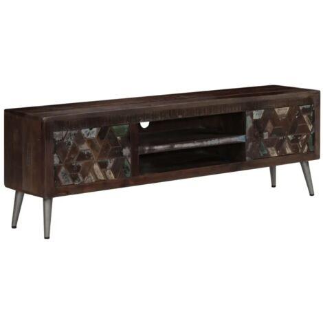 Industrial TV Stand Vintage Retro Furniture Media Lowboard Unit Storage Cabinet