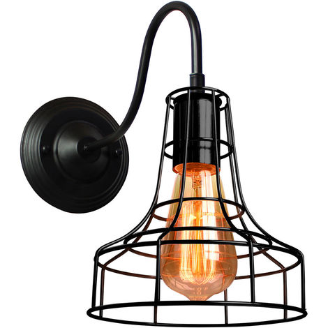 Industrial Vintage Ceiling Lighting Industrial Antique Metal Ceiling Lamp Hanging Light E27 60W for Living Dining Room Bar Cafeteria Restaurant(Black)