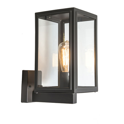 Industrial Wall Lamp Black IP44 - Sutton Up