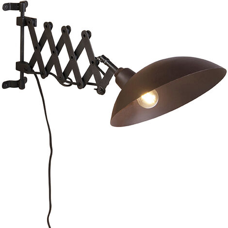 Industrial wall lamp bronze with black - Tyne