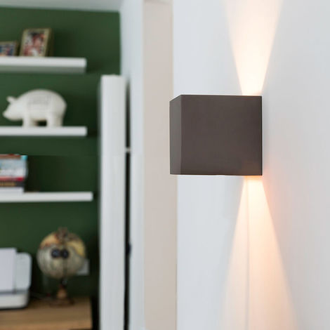 Industrial wall lamp concrete - Box