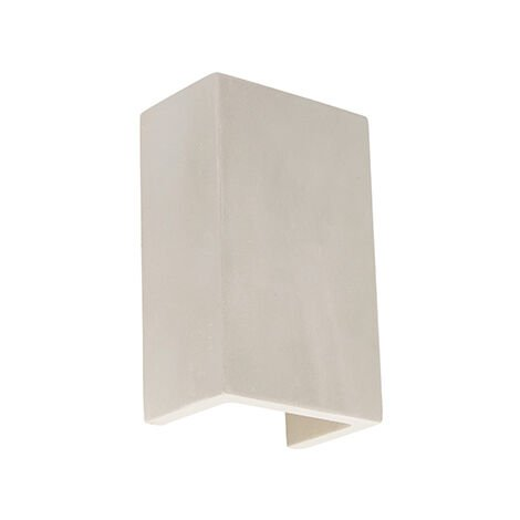 Industrial wall lamp gray concrete rectangle - Meaux