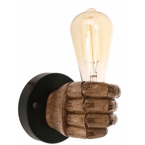 """main image of """"Industrial Wall Light Retro Wall Lamp Sconce with Hand Fist Shaped for Bedroom Living Room (Right)"""""""
