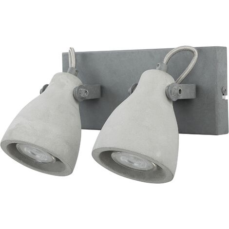 Industrial Wall Mounted Lamp Light Natural Concrete Cement Grey Mistago II