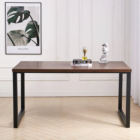 Industrial Wooden Dining Table 4-6 Seater Kitchen Dinner Office Desk Workstation
