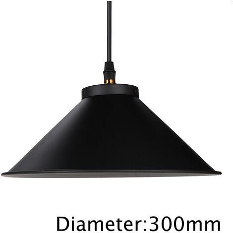 Industriel Fer Luminaire Vintage Plafonnier Pendentif Lumière Loft Café Lustre 300mm