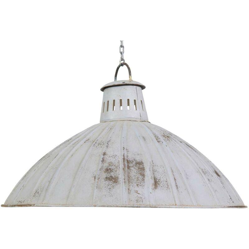 Hängeleuchte nicht elektrifiziert aus Eisen mit antikiertem weißem Finish L49xPR49xH31 cm.
