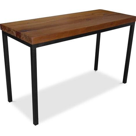 Industriestehtisch - 150cm - Holz und Metall Natural wood