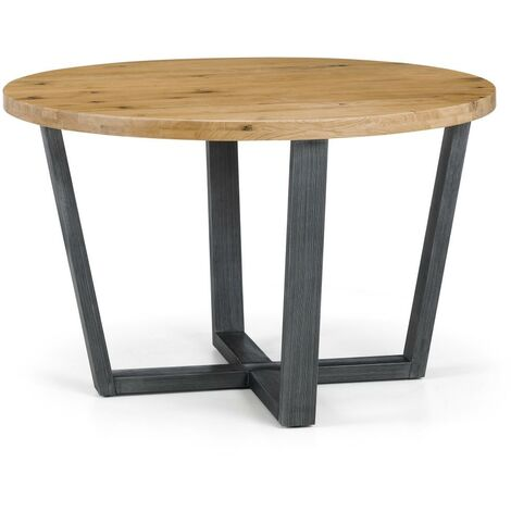 Inez Rustic Industrial Style ROUND TABLE