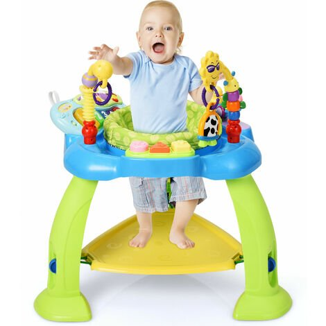Infant Jumperoo Bouncer Chair Toddler Stationary Activity Centres Adjustable