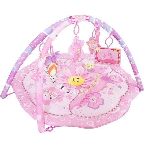 Infant Playmat, Baby Play Mat, Pink flowers pattern, Size: 85 x 85 x 44 cm