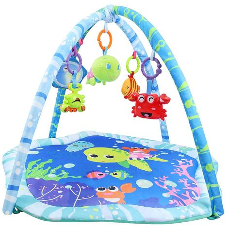 Infant Playmat, Baby Play Mat, Sea World, Size: 73.5 x 73 x 49 cm (29.5 x 28.9 x 19.3 inch)