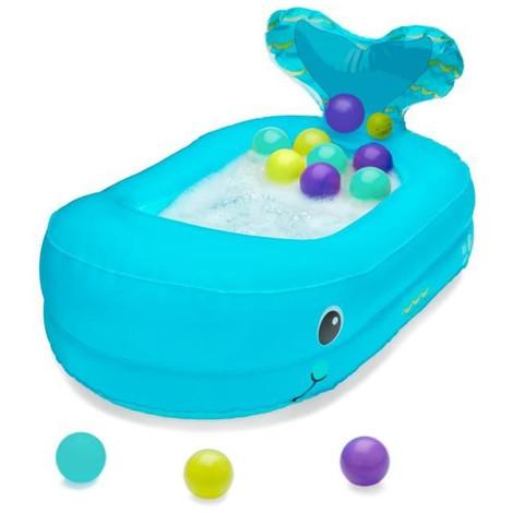 Infantino Baignoire Bebe Gonflable Baleine Avec Balles De Jeu