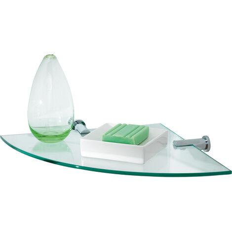 Infinity Corner Glass Vanity Shelf