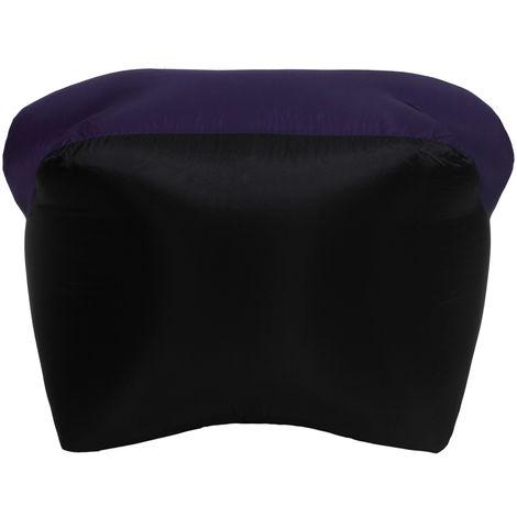Inflable portable Sofa Sofa Camas almohada para dormir para acampar al aire libre Viajar, purpura