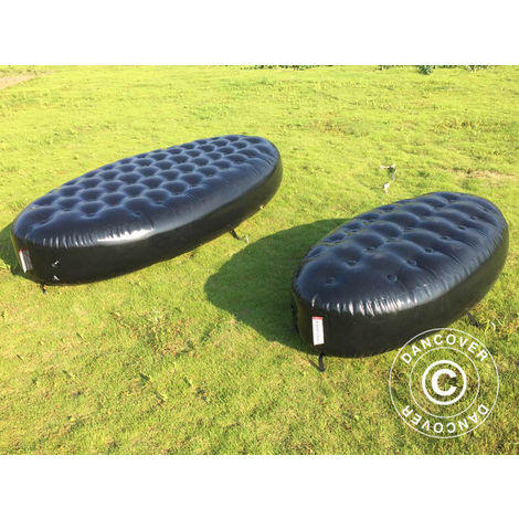 """main image of """"Inflatable bench, Chesterfield style, 1x1.95x0.45 m, Black"""""""