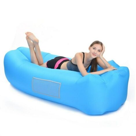 Inflatable Hammock, Waterproof Air Water Sofa With Portable Package, Flated Footing Sofa Sofa Air Bed For Traveling, Camping, Garden, Hiking, Pool and Beach Parts (Blue)