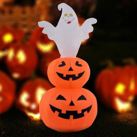 Inflatable Pumpkin Ghost Halloween Decoration Light Up Outdoor/Indoor